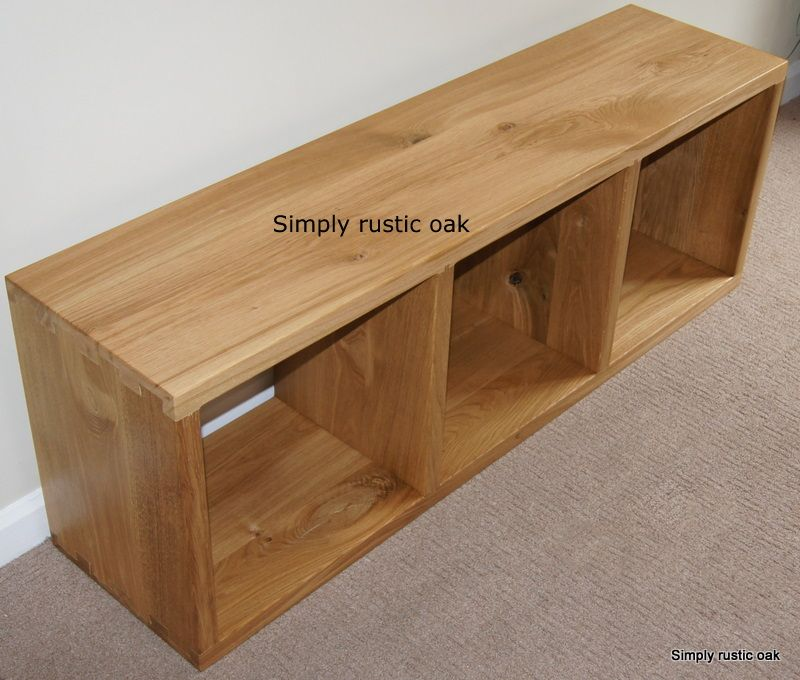 Rustic Oak 3 Cube Display Unit