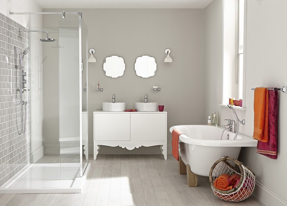 Bathroom Colours if you keep your bathroom colours neutral, with white ceramics and