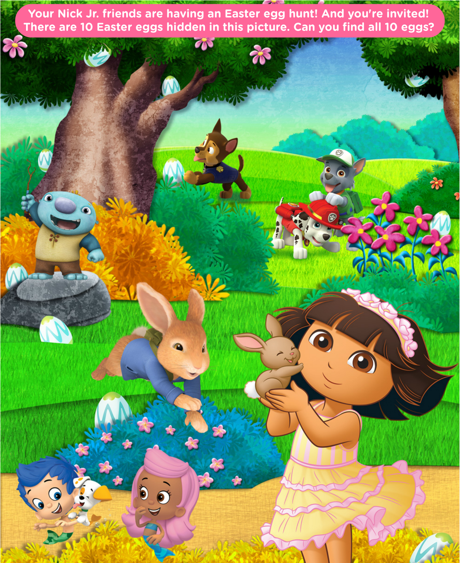 Go On An Egg Hunt With Nick Jr Friends