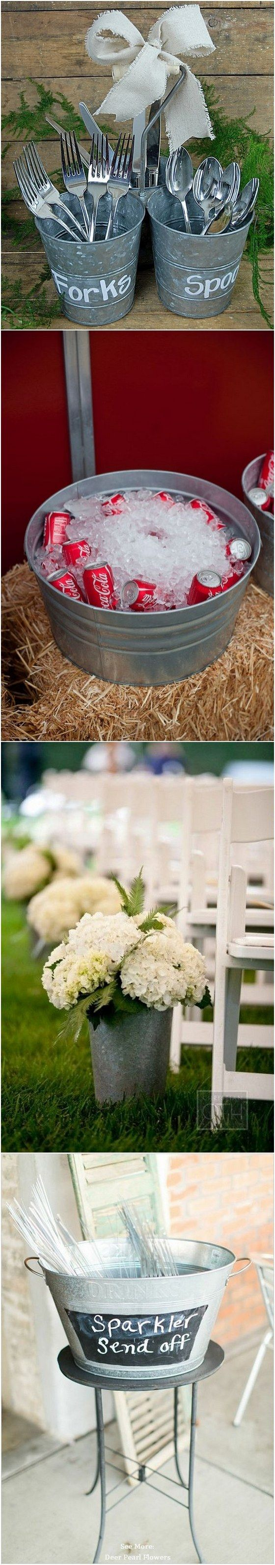 40 rustic country buckets tubs wedding ideas tubs buckets and