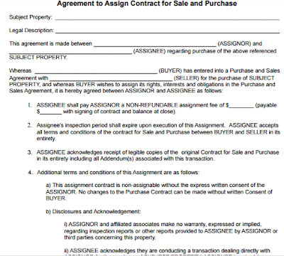 Purchase Agreement Assignment Purchase Agreement Amendment