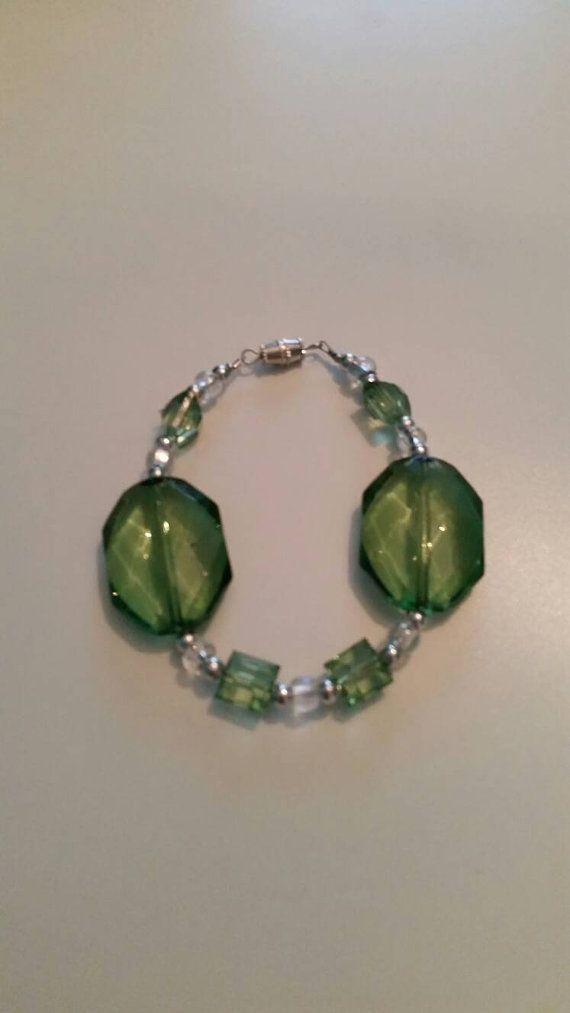 Check out this item in my Etsy shop https://www.etsy.com/listing/264121207/green-beaded-bracelet