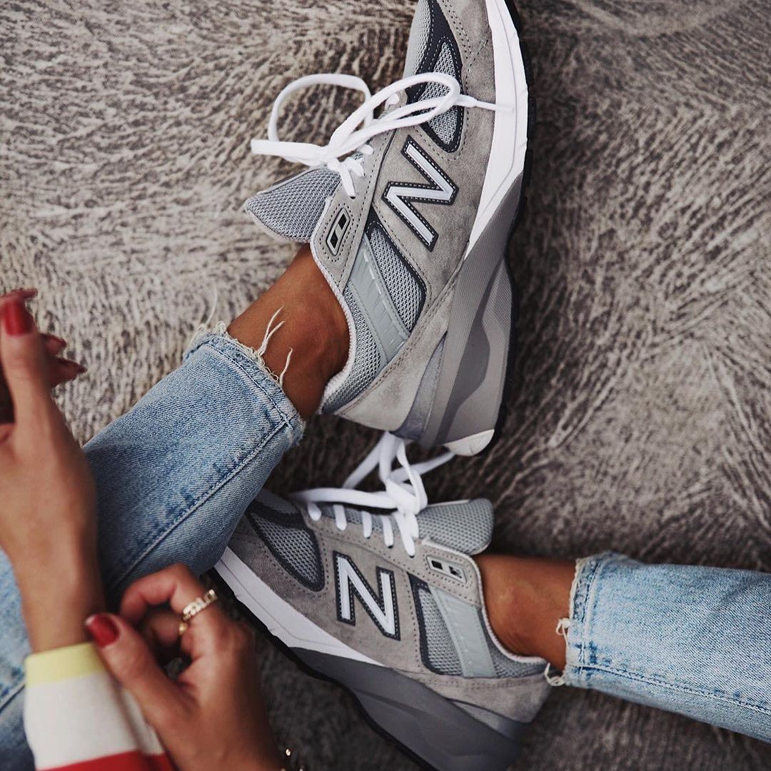 New Balance 990v5 in Grey | New balance outfit, New balance ...