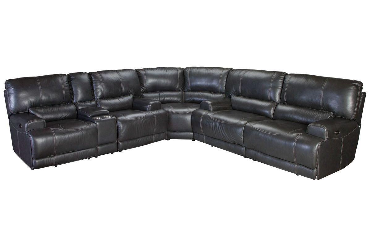 Cannon leather power reclining sectional gardner whites - Gardner white furniture living room ...