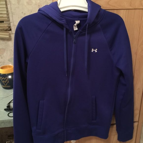Purple storm zip up Under armour Storm zip up hoodie size small in excellent condition Under Armour Tops Sweatshirts & Hoodies