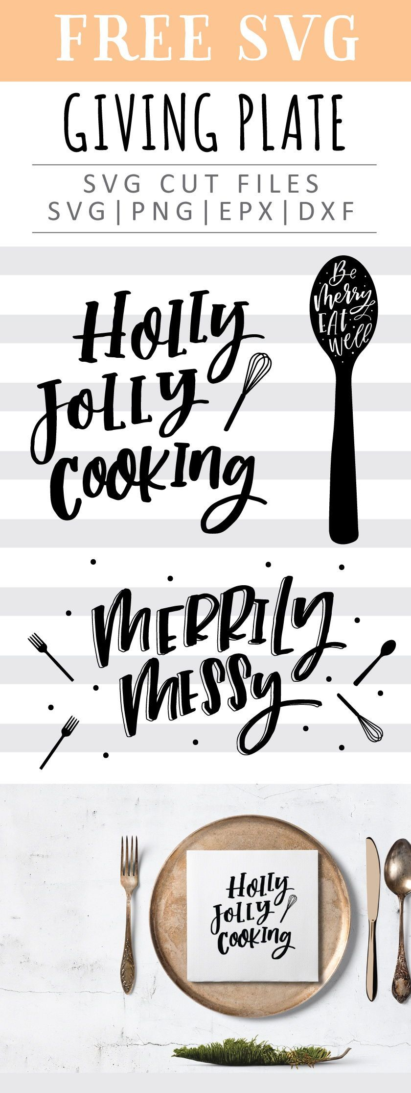 Free Merry Kitchen SVG, PNG, EPS & DXF by | Cricut | Pinterest ...