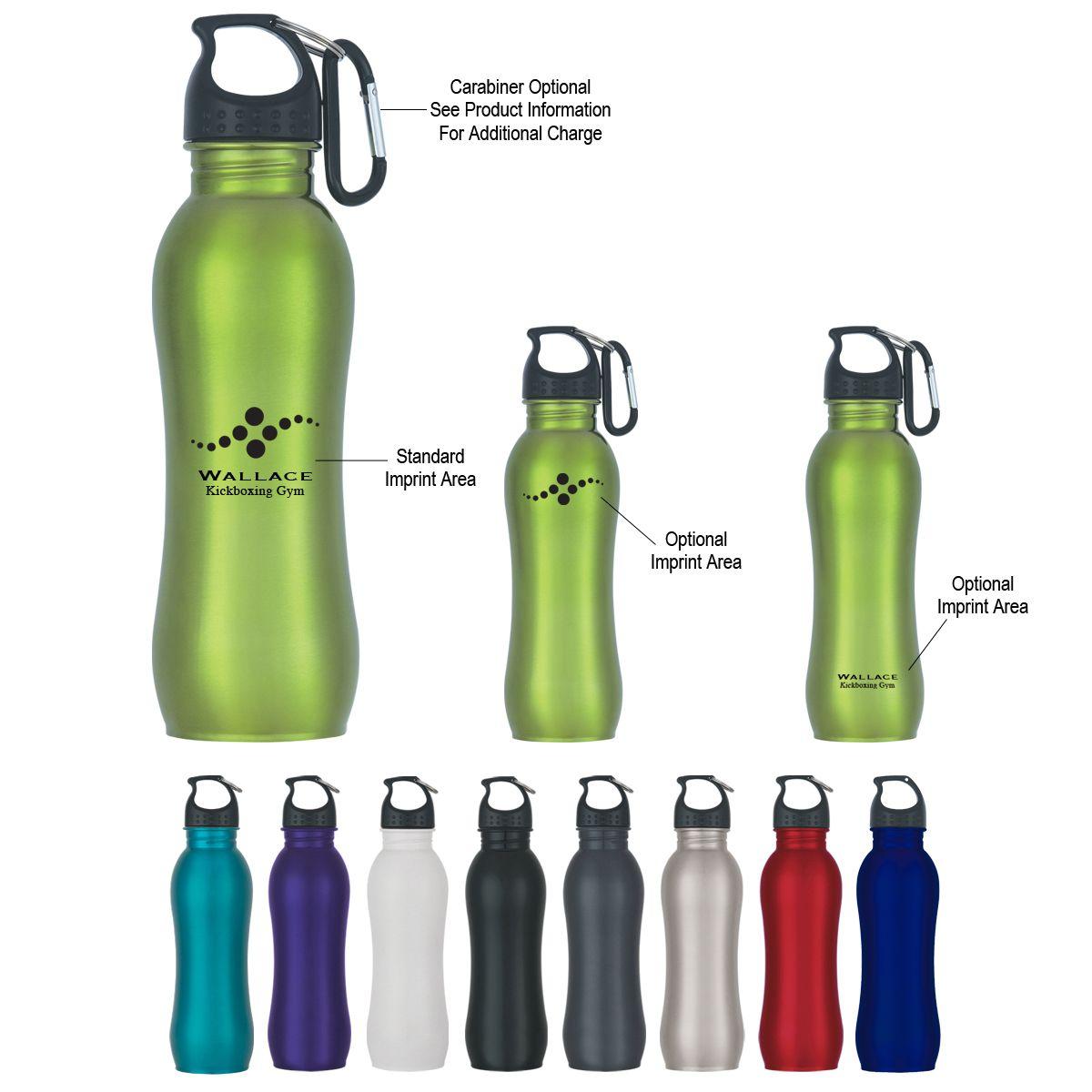 Stainless Steel Grip Bottle 25 oz Custom printed water