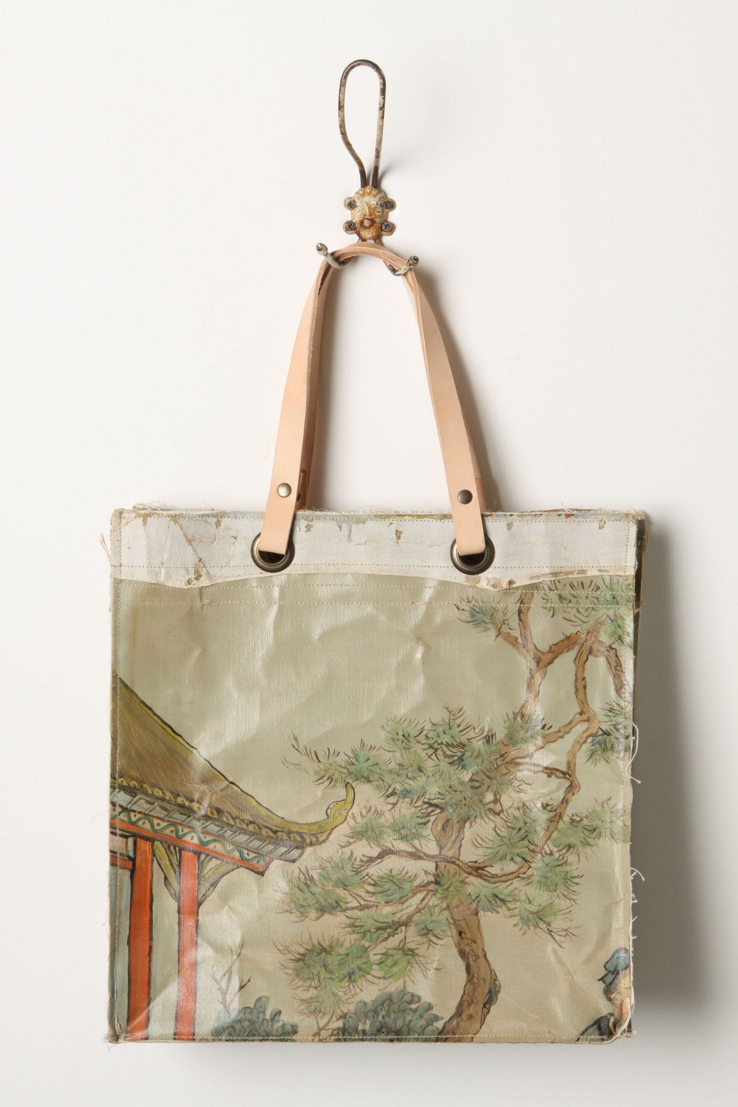 Original Still Life Bag, Gardenias - Back