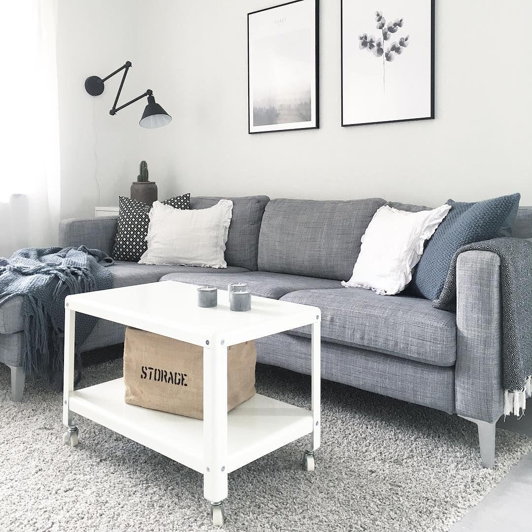 Ikea Karlstad soffa isunda grå Wiiks kreativa Pinterest Grå, Ikea och Vardagsrum