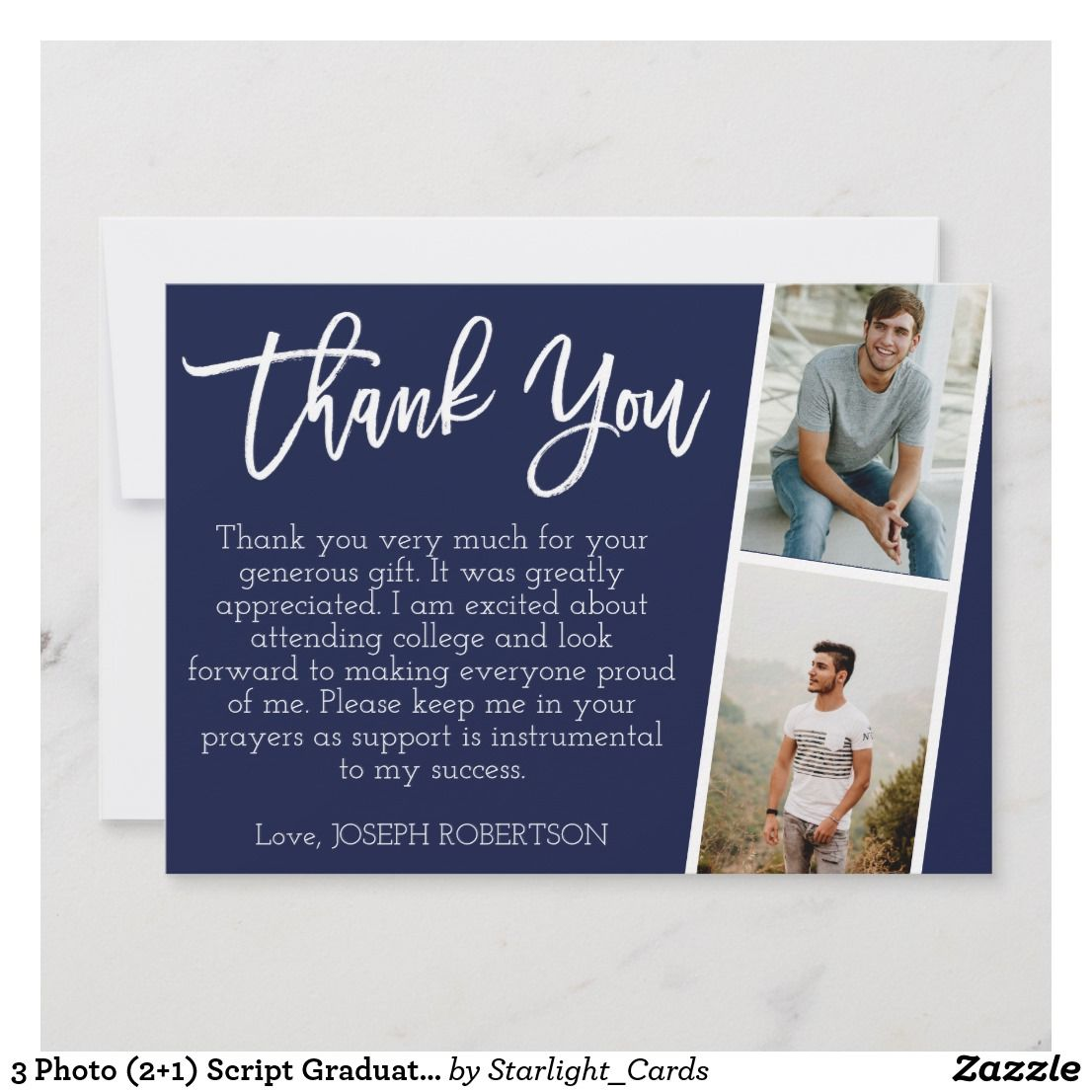 graduation thank you cards template
