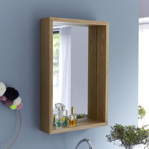 Easy Oak Mirror 70x45 Wood Mirror Bathroom Wood Framed Mirror