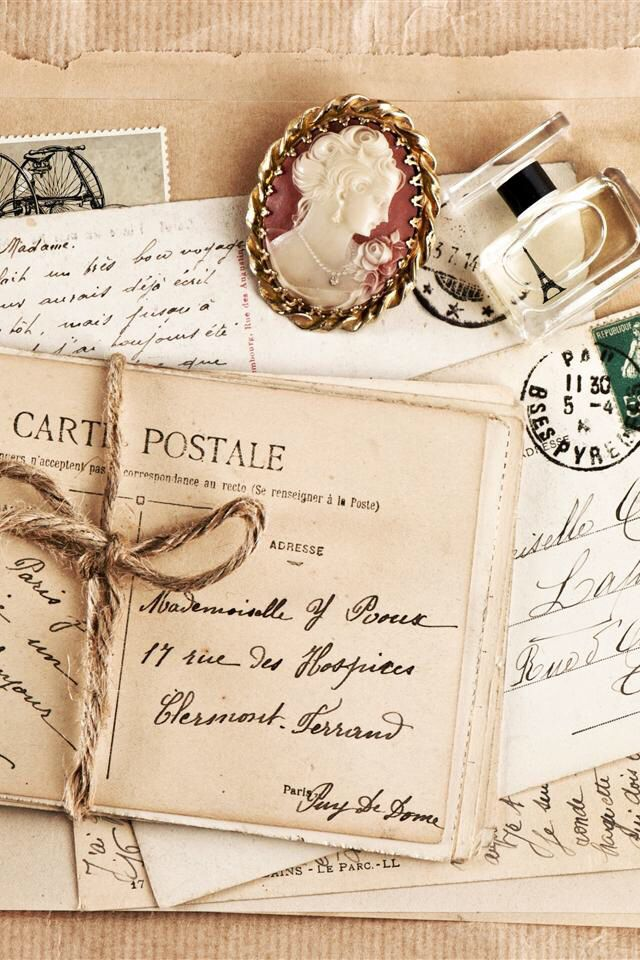 Inspiration Vintage Lettering Old Letters Post Cards