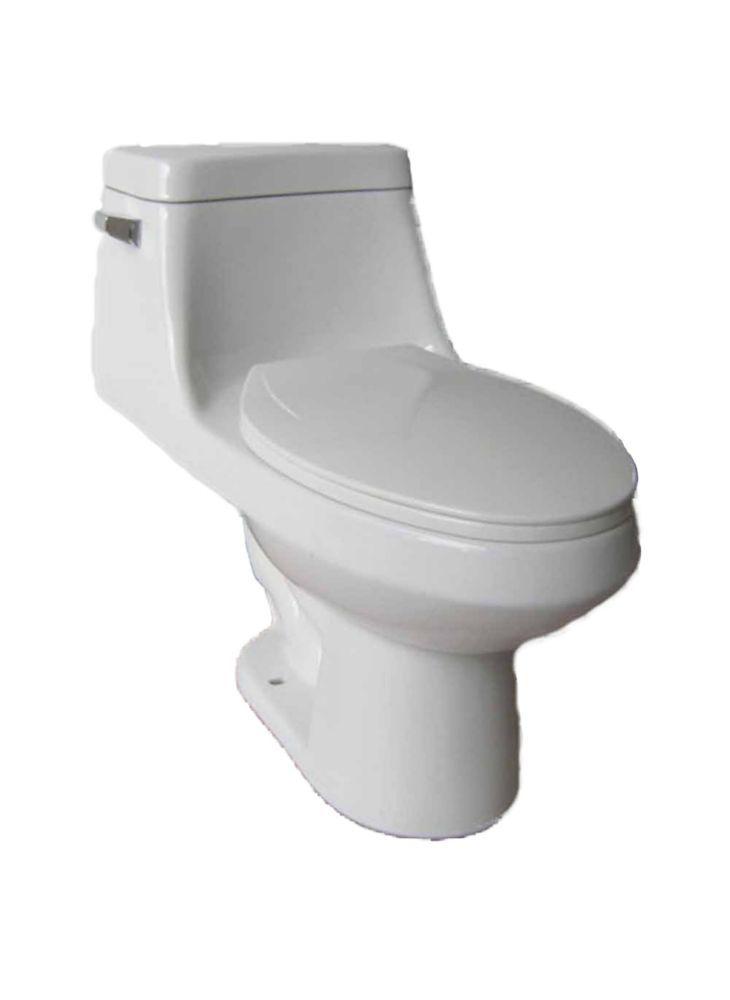 Altima 1 Piece Single Flush Elongated Bowl Toilet In 2019