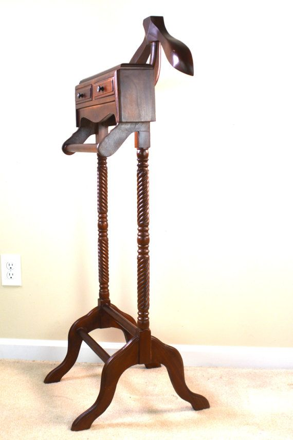 Vintage Valet Stand Wooden Suit By Vintentials Coat Hanger Mens