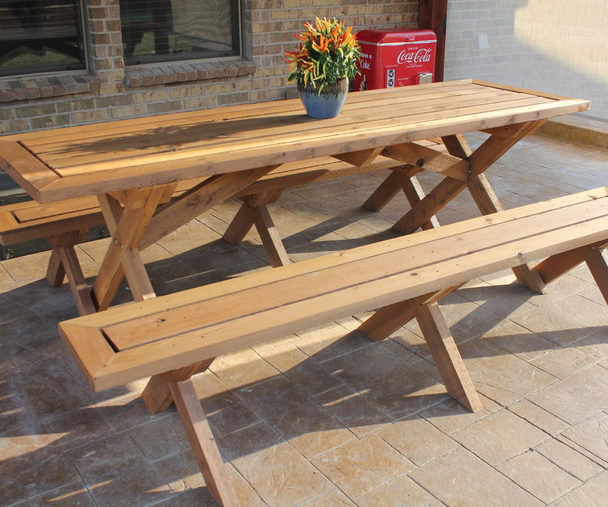 Awe Inspiring Sleek Picnic Table With Detached Benches Pallet Ideas Forskolin Free Trial Chair Design Images Forskolin Free Trialorg