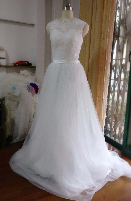 White brief wedding dress boho cheap dress for bride plus size