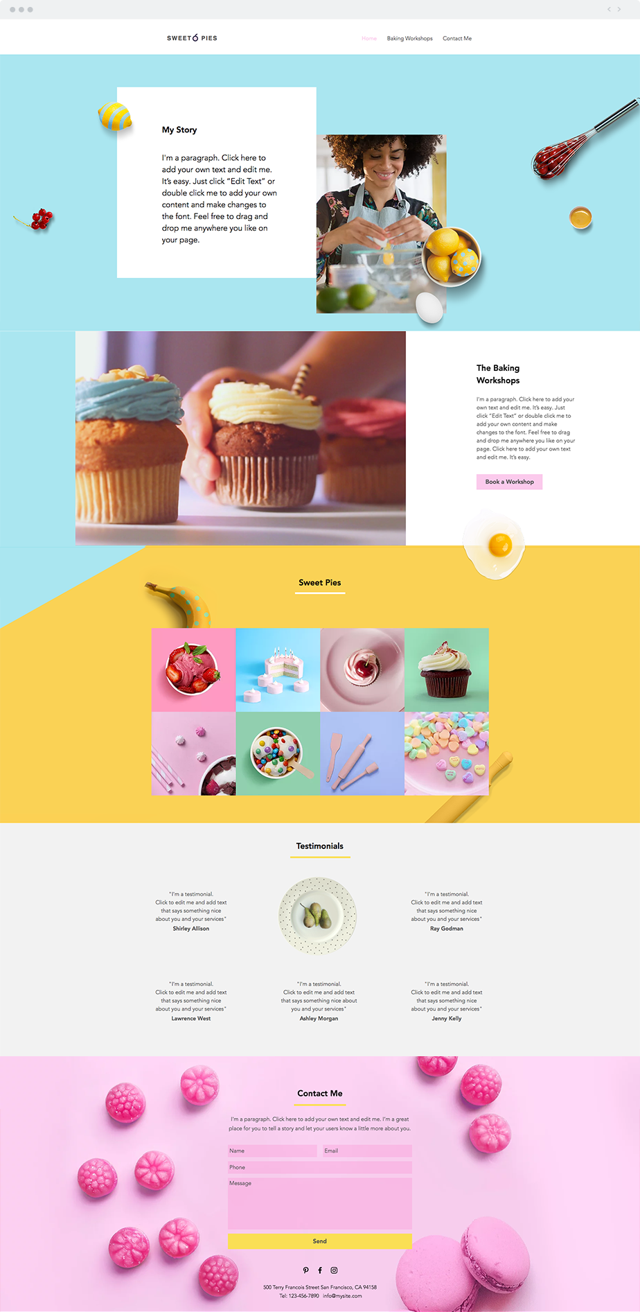 Baking Workshop Website Template | Wix Website Templates | Pinterest ...