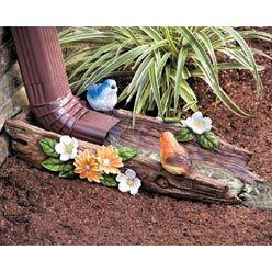 Cool Idea For Bottom Of A Downspout Splash Blocks Bird Bath Garden Decorative Downspouts