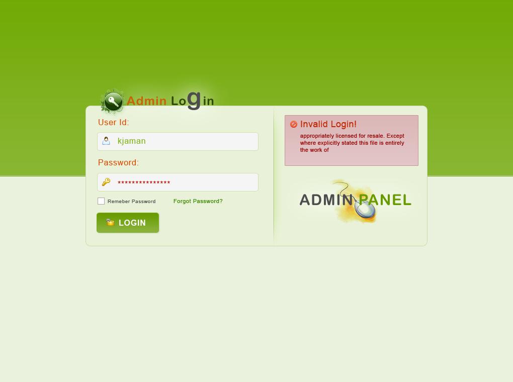 Admin panel login theme by ~kjaman on deviantART | login