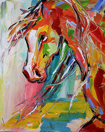 Love Laurie's work! Summer Horse 60 by Texas Artist @Laurie Pace