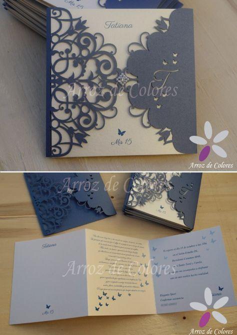 30 Tarjeta Calada Invitaciones Participaciones Casamiento 15