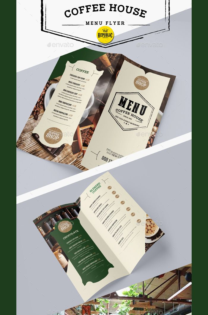 Coffee-Menu-Flyer Flyer Templates Pinterest Flyer template - coffee shop brochure template