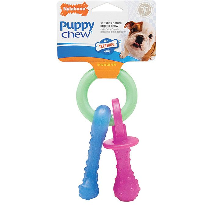 Nylabone Puppy Chew Teething Pacifier Xsmall Puppy Teething Toy Puppies Dog Chew Toys