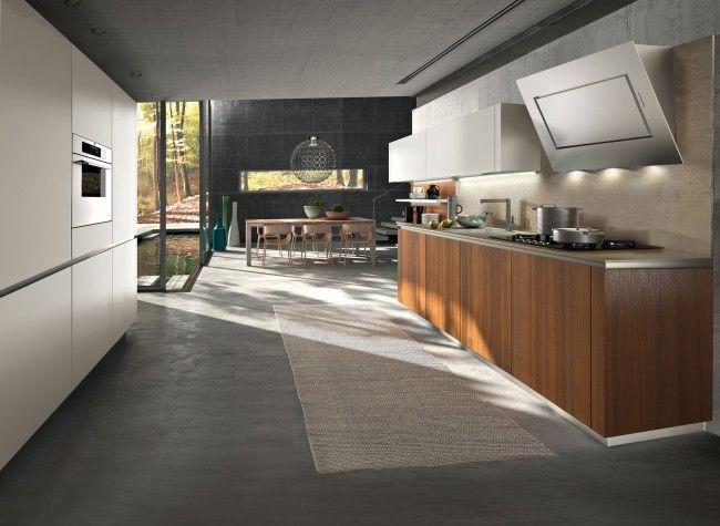 snaidero Küchen modernes design holz unterschränke stahl | p3 ...