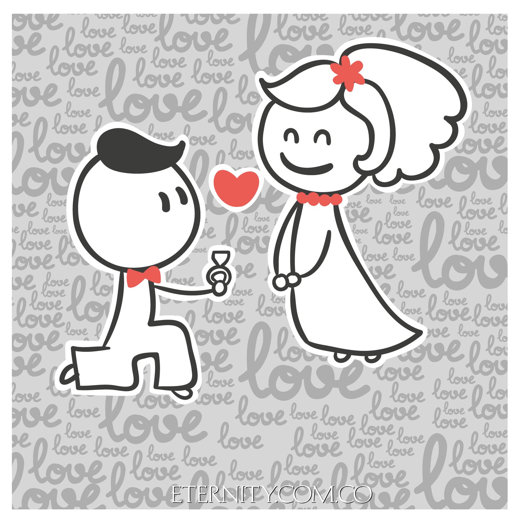 Anillos De Compromiso Eternityjoyeria Deseos De San Valentin Historieta Graciosa Feliz Dia De San Valentin