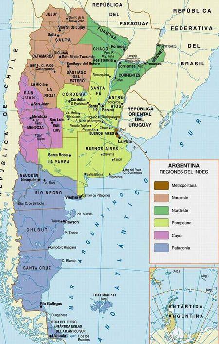Regional Map Of Argentina GO Maps Pinterest Regional - Argentina map key
