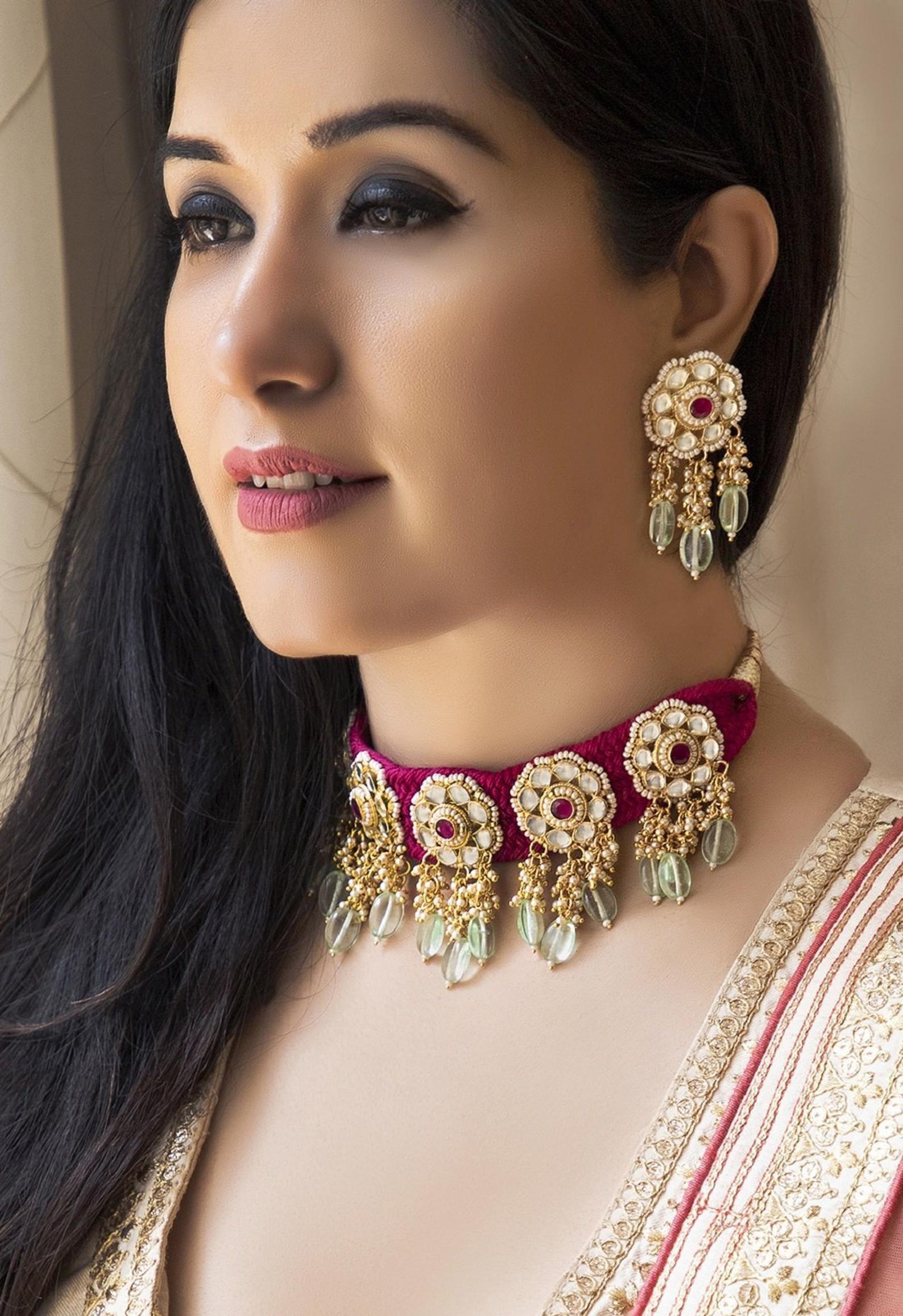 Kundan Jewelry Choker Necklace Sabyasachi Inspired