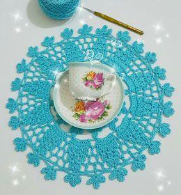 مفارش كروشية للطاولة كروشية للمطبخ درس كروشية طريقة مفرش كروشية مفارش دائرية للبيت Crochet Decorative Plates Tableware