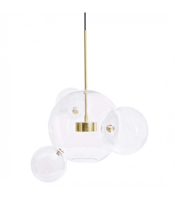 Lampa Wiszaca Capri 4 Zlota Led Aluminium Szklo Led Capri Incense