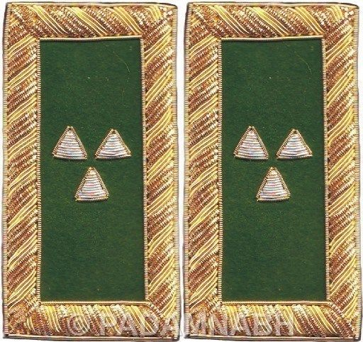SB-006 KNIGHT TEMPLAR PRELATE SHOULDER BOARDS PAIR HAND EMBROIDERED