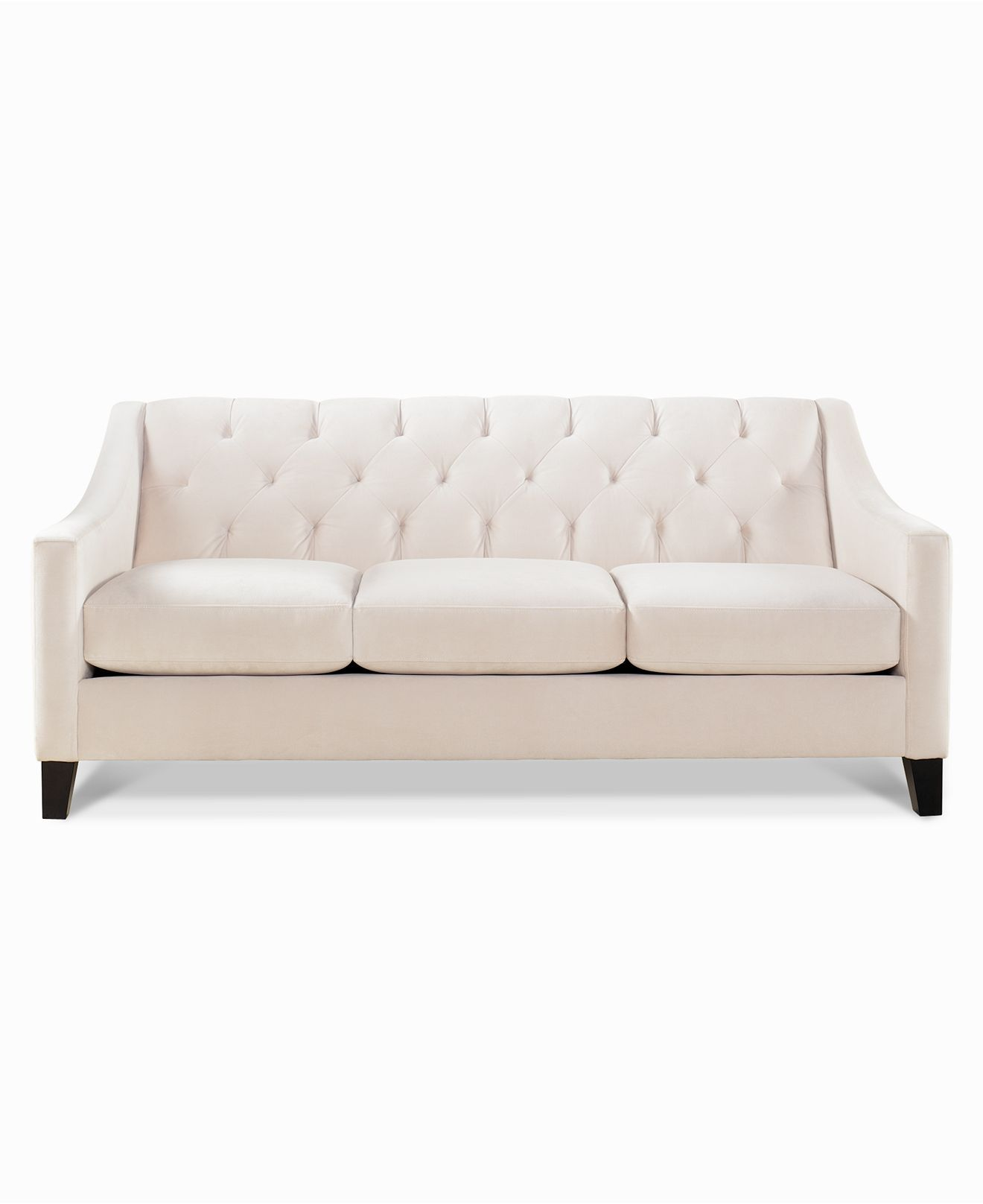 Chloe Metro Living Sofa - classic button-tufting and a sloped-arm design add