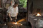They had jobs to do in colonial America. This is one of the jobs which is being a blacksmith. That is one of the jobs. By: Jonathan Kalbach