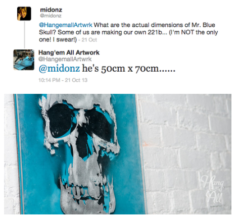 John Pinkerton is the artist who made the skull. I asked ...