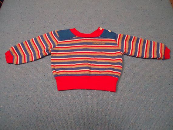 Vintage 1980s Baby Pierre Cardin Sweatshirt I Want An Adult