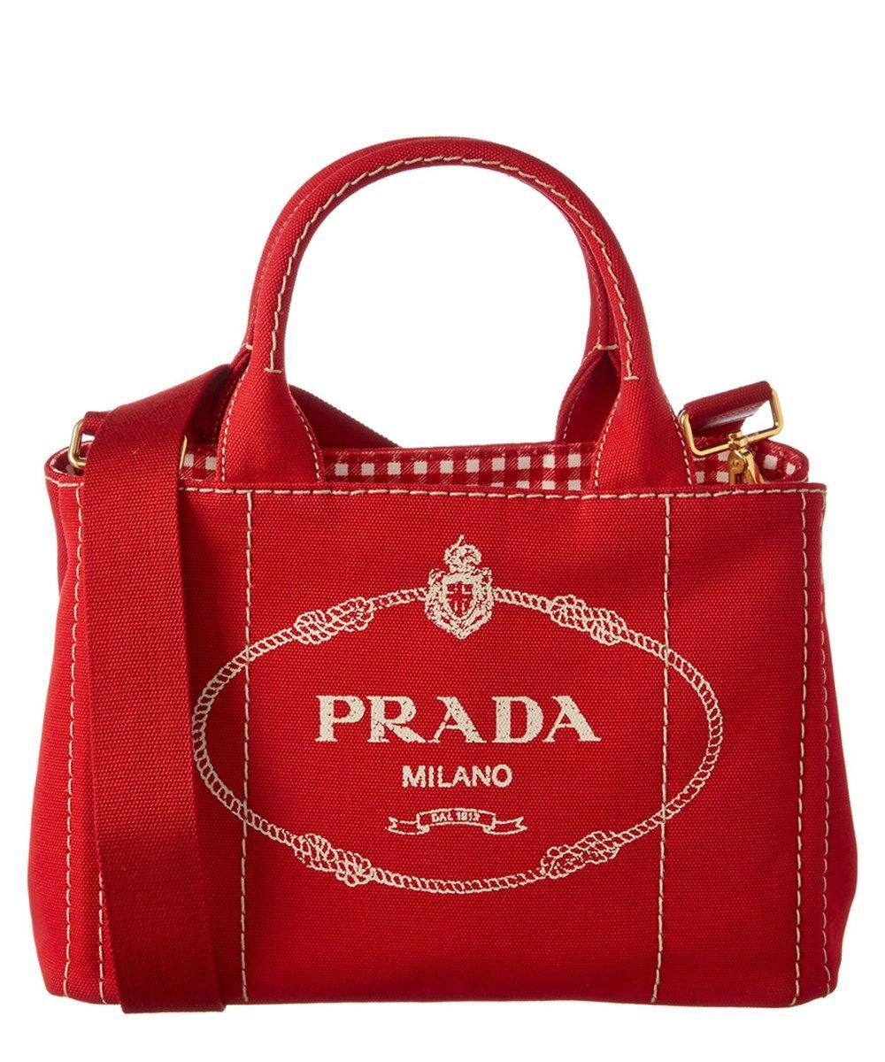 02784fbe610 PRADA Prada Logo-Print Small Canvas Tote .  prada  bags  canvas  tote   leather  lining  shoulder bags  hand bags