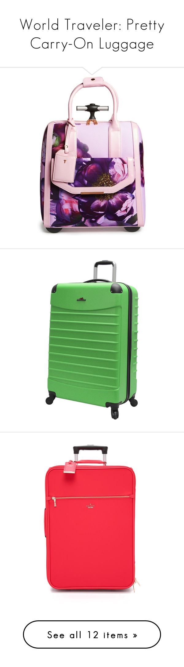 World Traveler: Pretty Carry-On Luggage