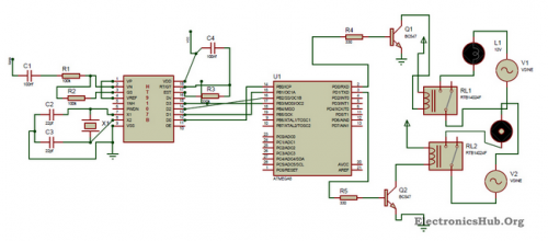 Figure 1 Circuit Diagram Of Dtmf Controlled Home Automation System Home Automation System Home Automation Project Best Home Automation