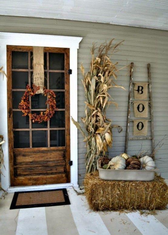 28 SPOOKY FRONT DOOR HALLOWEEN DECORATION INSPIRATIONS Pinterest - decorating front door for halloween