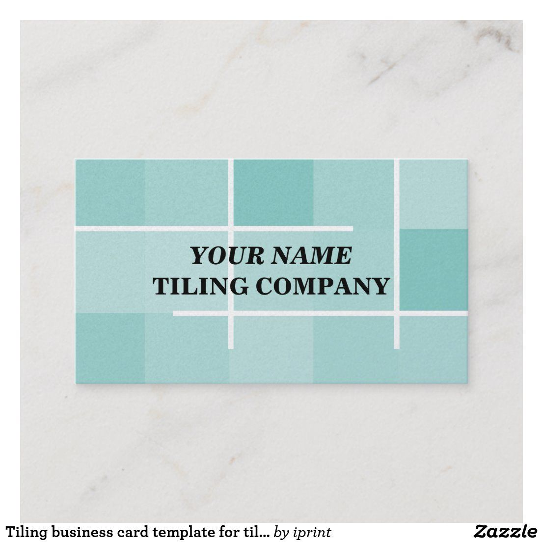 Tiling Business Card Template For Tilers Zazzle Com In 2021 Business Card Template Professional Business Cards Templates Card Template