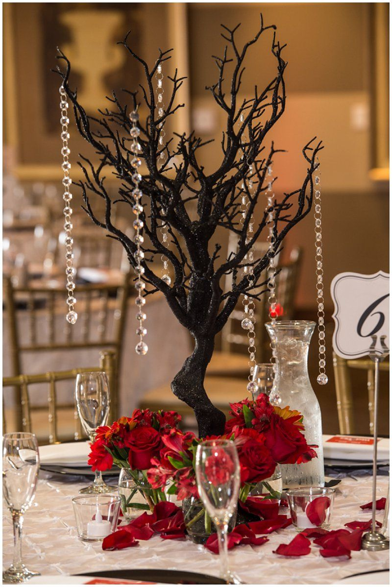 Wedding decorations red  Nightmare Before Christmas Inspired Wedding at Wedgewood Vellano in