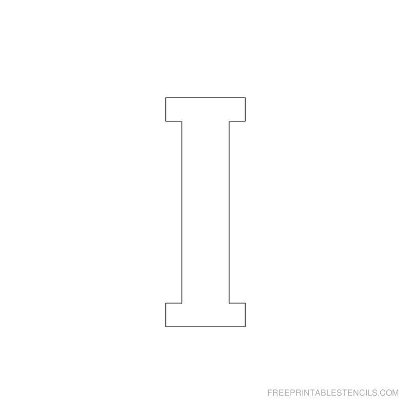 Printable 2 Inch Letter Stencil I | Products I Love | Free