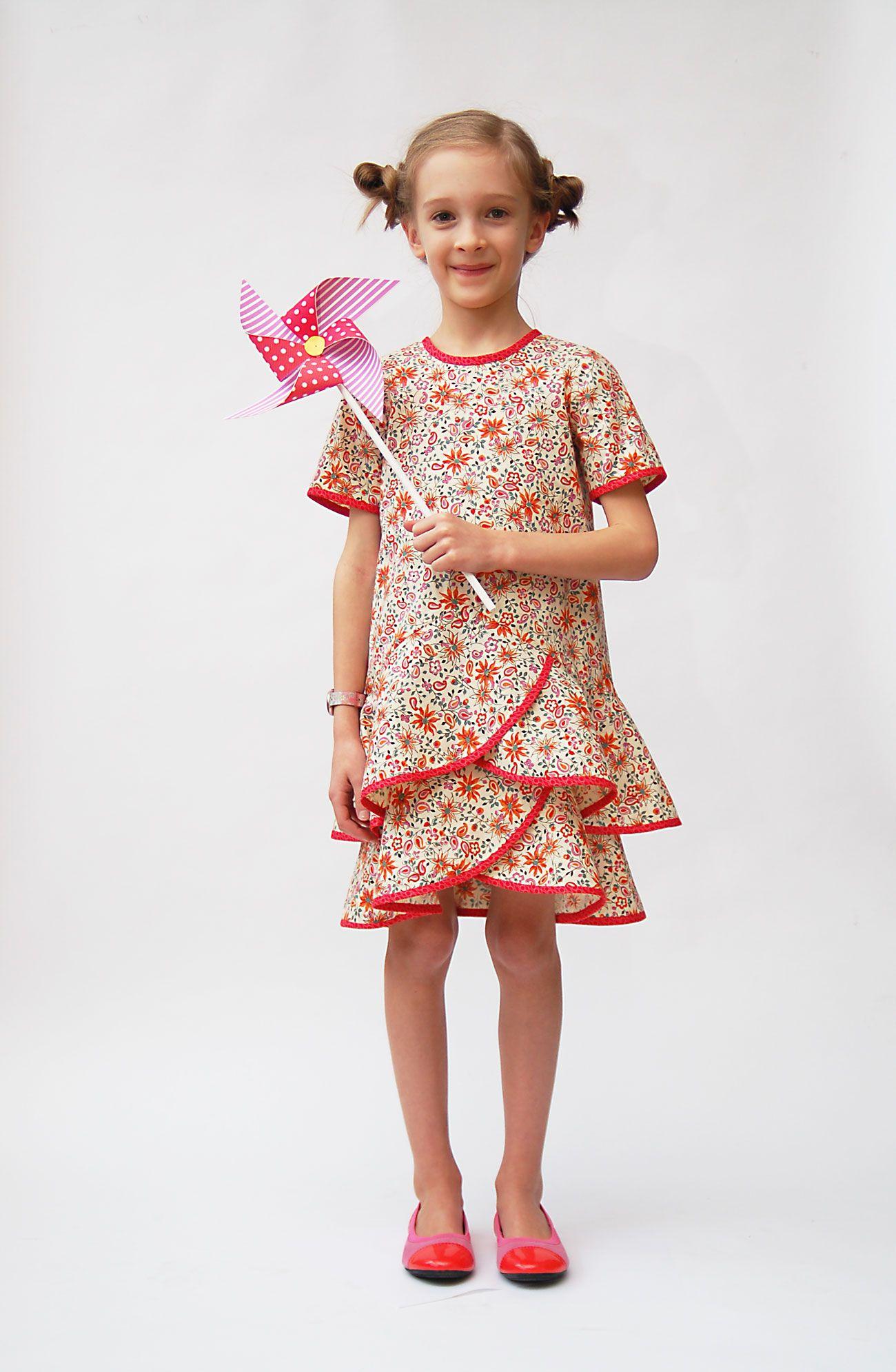 Platz für kinder, jungen und mädchen introducing the pinwheel tunic  slip dress sewing pattern