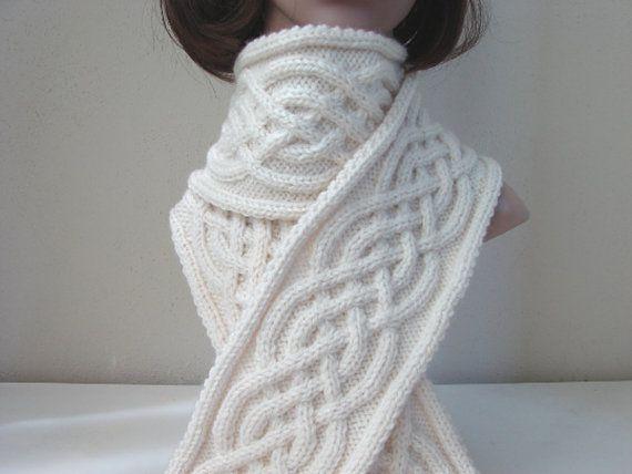 Muster-Schal stricken Keltische Schal von CrochetShopCarolina ...
