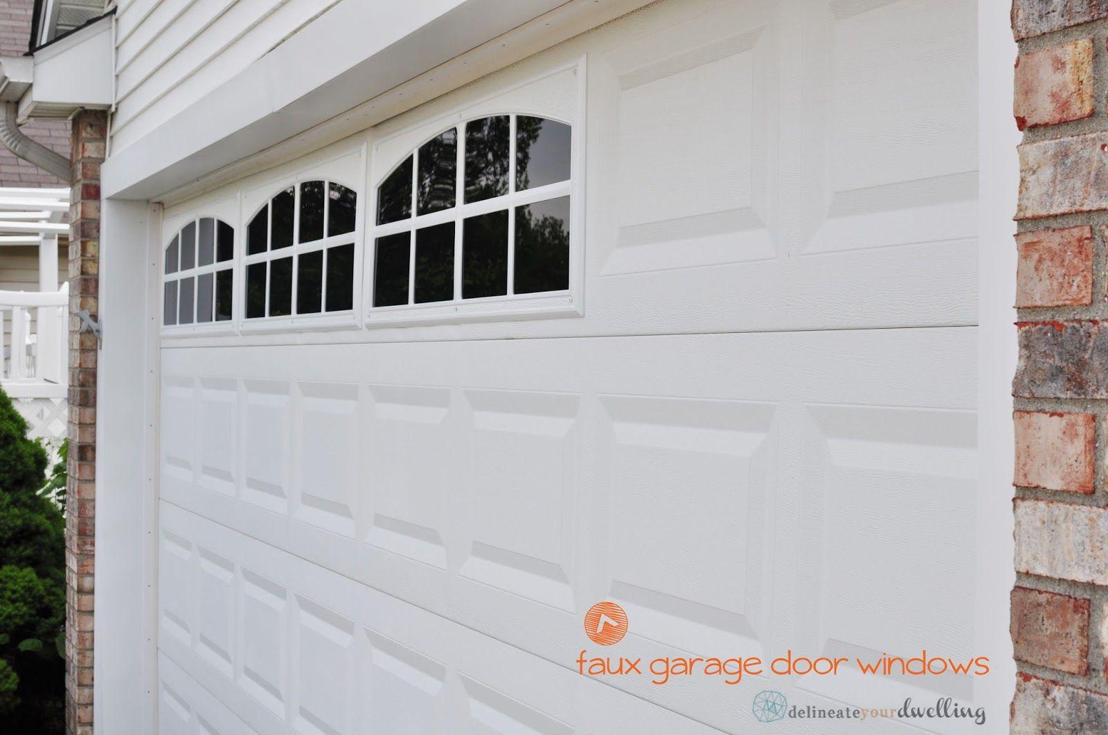 Install Faux Garage Windows A Garage Garage Doors