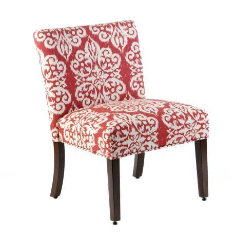 Ikat Slipper Chair | Slipper chairs, Wooden leg and Wooden frames