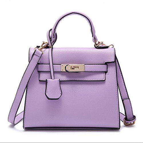 RW Collections Womens ALEE Fashion Handbag Satchel Tote Bag Purse (Light Purple)